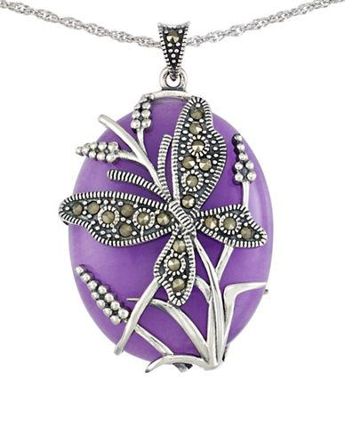 Lord & Taylor Lavender Quartz And Sterling Silver Pendant Necklace