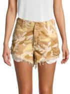 Free People Camo Cutoff Shorts