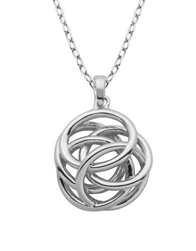 Lord & Taylor High Polished Geometric Knot Pendant Necklace