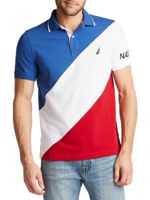 Nautica Diagonal Colorblock Polo Shirt