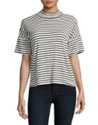 Splendid Striped Mockneck Top