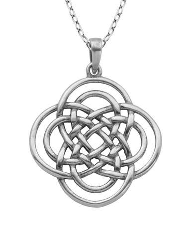 Lord & Taylor Sterling Silver Celtic Knot Pendant Necklace