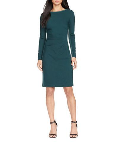 Lauren Ralph Lauren Suede-panel Sheath Dress