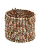 Design Lab Lord & Taylor Multi-row Beaded Cuff Bracelet