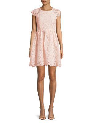 Kensie Dresses Floral Lace A-line Dress
