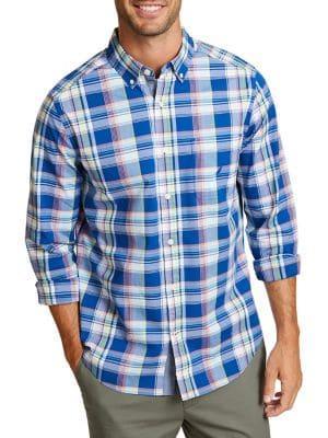 Nautica Classic-fit Long-sleeve Button-down Shirt