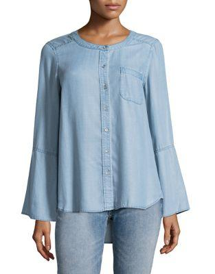 Two By Vince Camuto Bell Sleeve Button-down Top