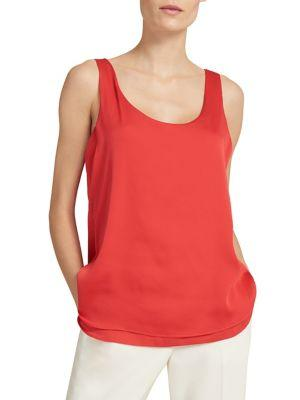 Donna Karan Sleeveless Hi-lo Satin Top