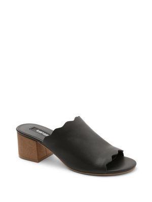 Kensie Hajari Leather Sandal Pumps