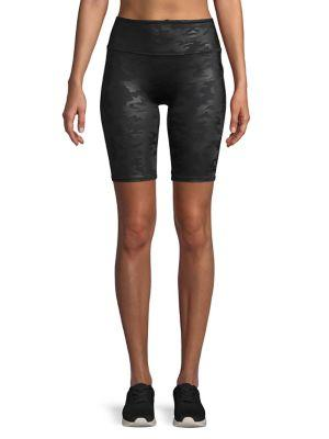 Spanx Faux-leather Camo Short