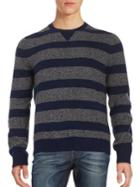 Brooks Brothers Red Fleece Striped Wool-blend Sweater