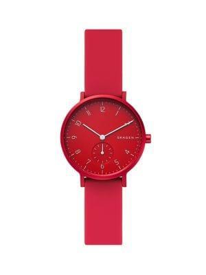 Skagen Aaren Stainless Steel & Silicone-strap Watch