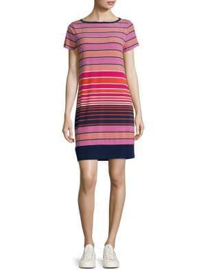 Michael Michael Kors Abbey Striped T-shirt Dress