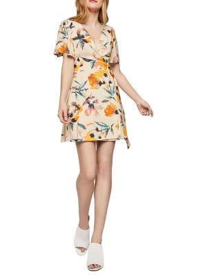 Bcbgeneration Abstract Florals Wrap Dress