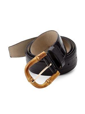 Steve Madden Croc-embossed Belt