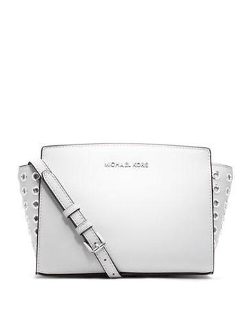 Michael Michael Kors Selma Leather Medium Grommet Messenger Bag