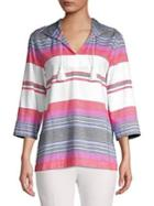 Tommy Bahama Missy Sunset Striped Cotton Hoodie