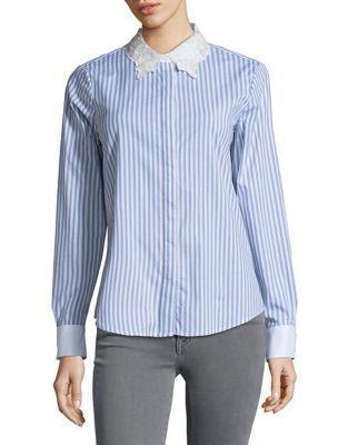 Karl Lagerfeld Paris Striped Button-down Shirt