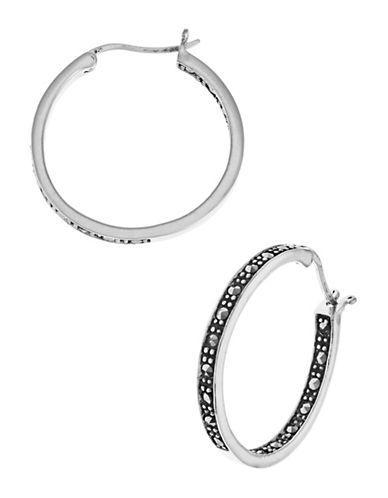 Lord & Taylor Rhinestone Hoop Earrings