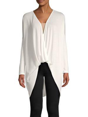 Design Lab Hacci Wrap Top