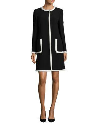 Karl Lagerfeld Suits Contrasting Panel Detail Overcoat