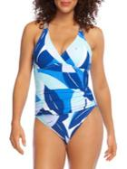 La Blanca Palm Printed One-piece Swimsuit