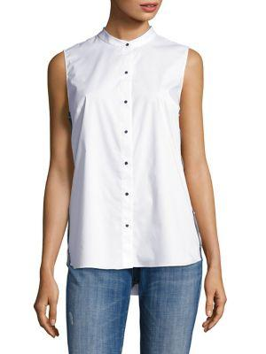 T Tahari Sleeveless Button-down Blouse