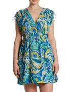 Lauren Ralph Lauren Plus Farrah Paisley Dress