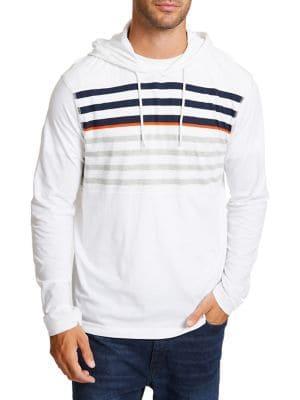 Nautica Beach-to-street Striped Cotton Hoodie