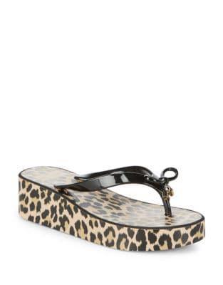Kate Spade New York Rhett Rubber Leopard Print Flip Flops