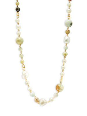 Kenneth Jay Lane Multi-beaded Goldtone Necklace