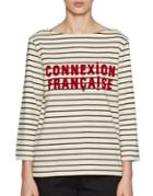 French Connection Striped Long-sleeve Tee