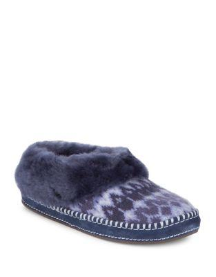 Ugg Rince Fur-trimmed Slippers