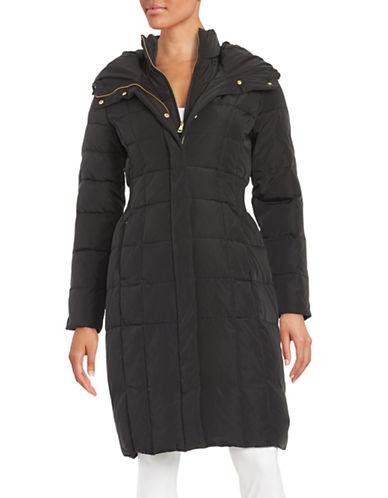 Cole Haan Signature Hooded Quilted Down Coat