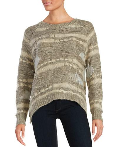 Design Lab Lord & Taylor Textured Knit Sweater