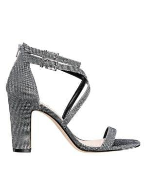 Nina Shari Glitter Block-heeled Sandals