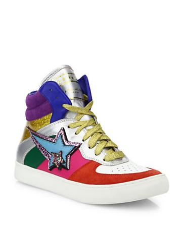 Marc Jacobs Eclipse Colorblock High-top Sneakers