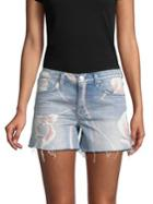 Hudson Jeans In Bloom Denim Shorts