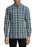 Strellson Slim-fit Plaid Button-down Shirt