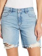Skinny Girl Distressed Denim Shorts