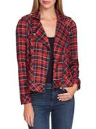 Two By Vince Camuto Highland Plaid Moto Jacket