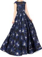 Mac Duggal Embellished Jacquard Fit-&-flare Gown