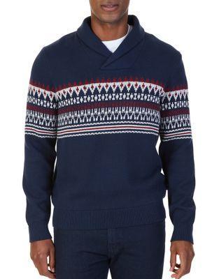 Nautica Cotton Shawl Collar Sweater