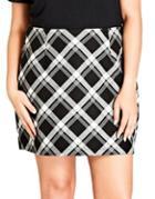 City Chic Plus Plaid Pencil Skirt