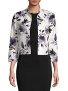 Nipon Boutique Floral-print Cropped Jacket