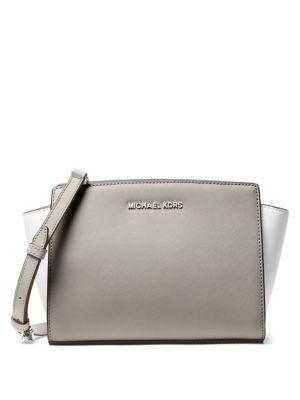 Michael Michael Kors Selma Leather Messenger Bag