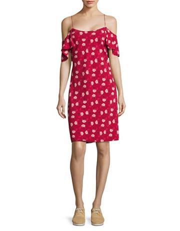 Karl Lagerfeld Paris Floral Cold-shoulder Dress - Vogue 125 Rose Collection