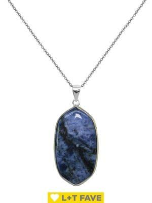 Lord & Taylor Semi-precious Stone Pendant Necklace