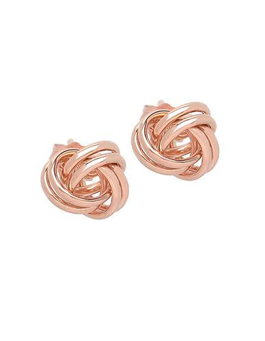 Lord & Taylor 14k Rose Gold Knot Earrings