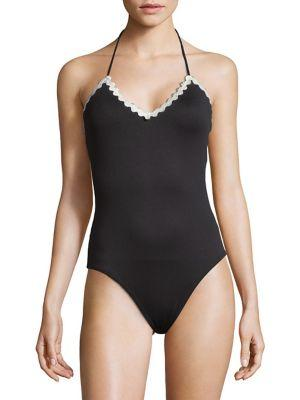 Shoshanna Scallop-trimmed One-piece Swimsuit